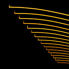 wing it (barbera*) Tags: black berlin lines yellow night lights curves fluorescent repetition rhythm barbera guessedberlin september2009 gloriapalast jibbr guessedbyandtor gwbandtor 269711