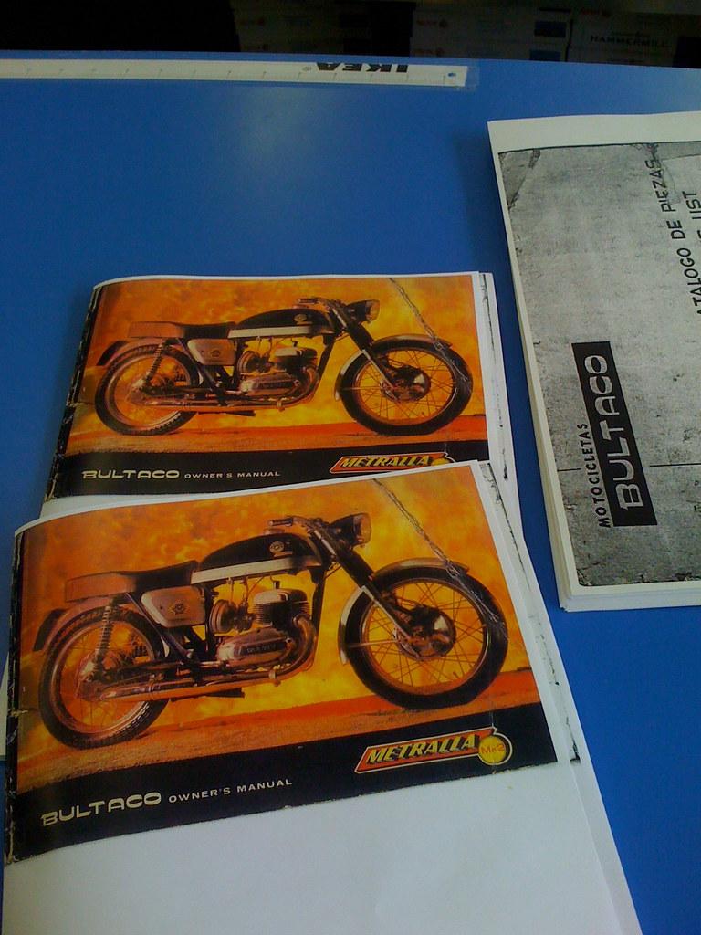 Bultaco Metralla manuals