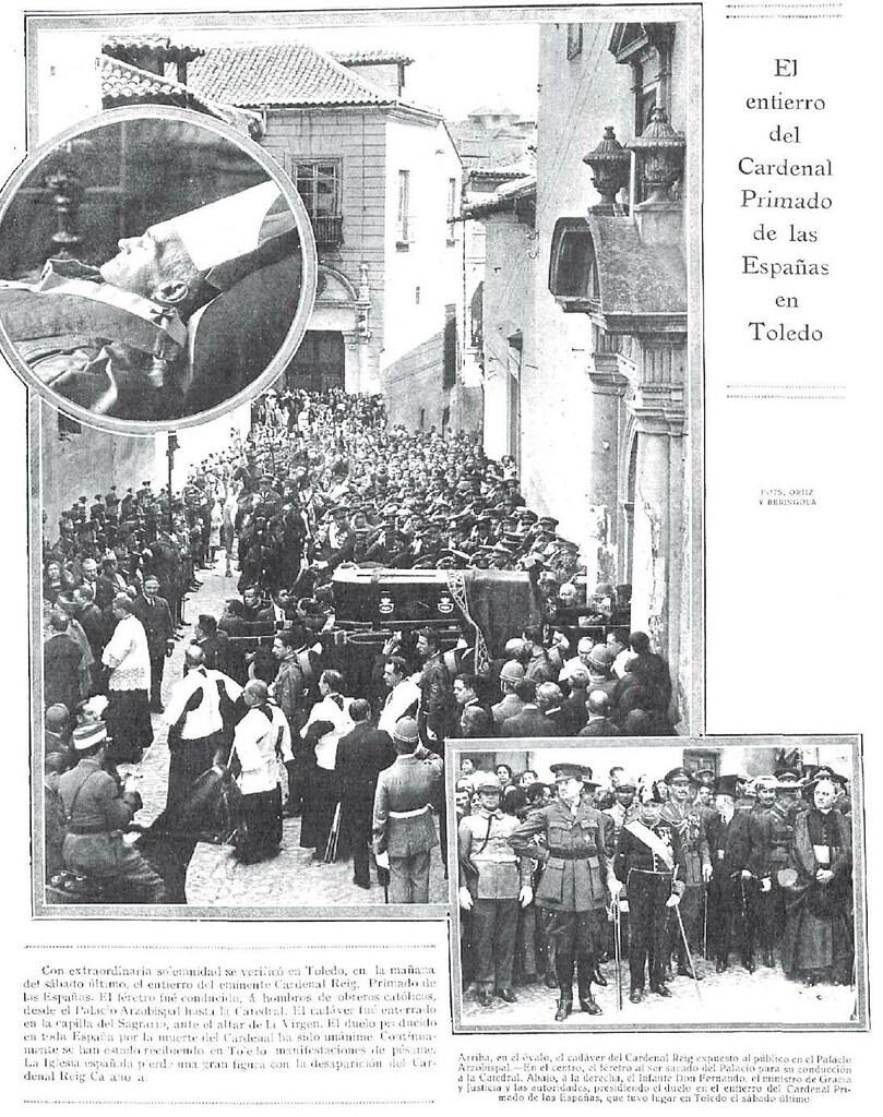 Entierro del Cardenal Reig. Revista Nuevo Mundo