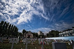 Dynamic Sky - 3 (Shad0w_0f_Dark) Tags: sky sun church grave festival clouds nikon ray sigma dhaka d200 1020 2009 bangladesh graveyeard allsoulsday firmgate