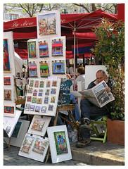 Montmartre - Parisien (Romeodesign) Tags: paris france newspaper paint paintings montmartre painter painters parisien