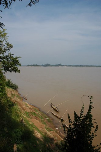 Mekong flows past at Champasak