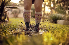 (Tiffany Findley) Tags: red hearts jumping mudpuddle splah jumpinginmud