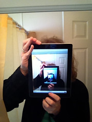 obligatory recursive iPad mirror self portrait
