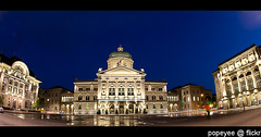 Federal Palace of Switzerland (Popeyee) Tags: pictures city blue urban building architecture night switzerland photo republic foto image photos swiss politics picture parliament palace images architect hour government bern bundeshaus bluehour berne federal legislature democratic assembly judiciary palaisfdral bundesplatz parliamentary nationalcouncil federalcouncil swissparliament federalassembly palazzofederale federalpalace curiaconfoederationishelveticae swissfederalassembly hansauer federalpalaceofswitzerland thefederalpalaceofswitzerland popeyee federalpalaceswitzerland theswissparliament