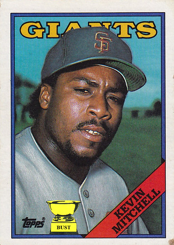Baseball Card Bust Kevin Mitchell 1988 Topps
