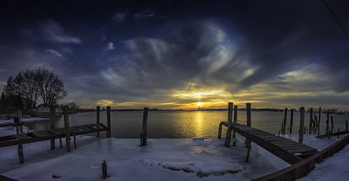 """Old Pier Sunset - Fisheye • <a style=""""font-size:0.8em;"""" href=""""http://www.flickr.com/photos/76866446@N07/13012270523/"""" target=""""_blank"""">View on Flickr</a>"""