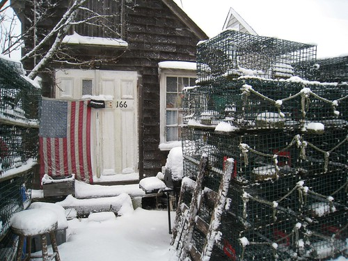 Lobster Traps and Shed in Color