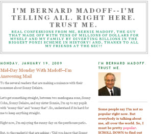 Faux Bernie Madoff Website