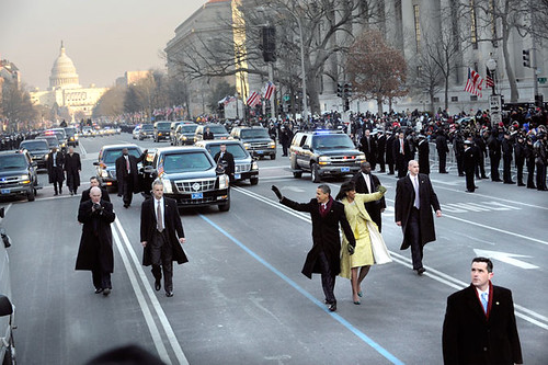Inauguration Day 2009: The Obamas walk the parade route by USA TODAY.