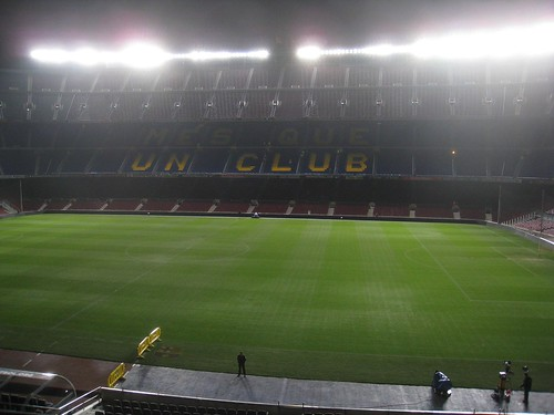 My first view inside Camp Nou