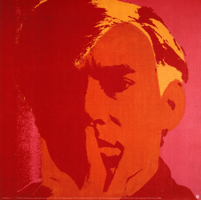 NR833~Andy-Warhol-Self-Portrait-Orange-Affiches