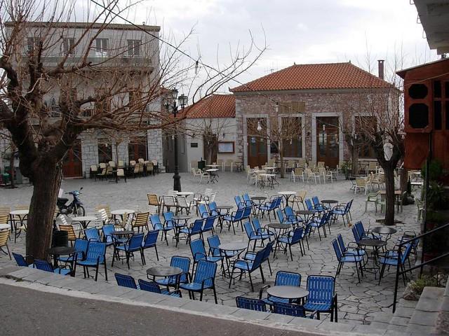 Πελοπόννησος - Λακωνία - Δήμος Γερoνθρών Κεντρική πλατεία Γερακίου