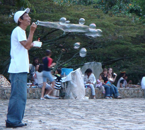 The Bubble Man. San Antonio suburb, Cali - Colombia.