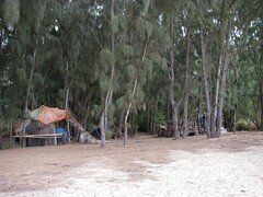 Beach Camp on Oahu Where Lost is Filmed