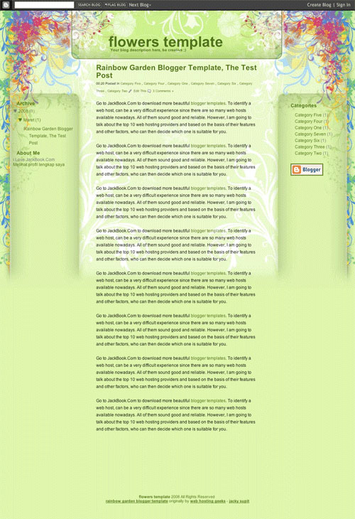 3293015610 fd23a2d247 o 50 (Most) Beautiful Blogger Templates