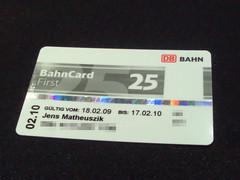 BahnCard 25 First