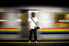 Life's Blurry Sometimes. (13thWitness) Tags: motion blur slr colors hat digital canon underground subway photography movement flickr view image metro venezuela father picture fast caracas converse slowshutter shutter timothy 13 futura witness manfrotto 13thwitness timothymcgurr