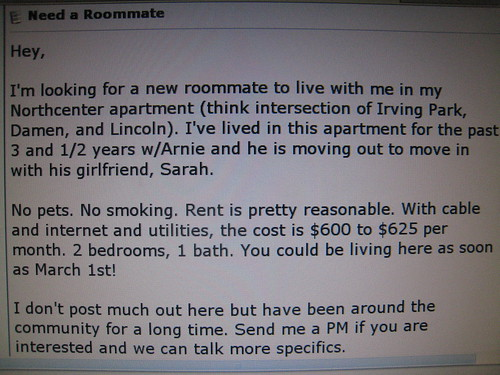 need a roommate