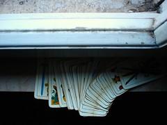 contro la finestra (*LaFra*) Tags: white macro cards details bn dettagli carte particolari cartenapoletane blackendwhite