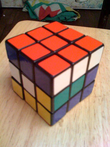 Solving a cube top-bottom-middle 5/7