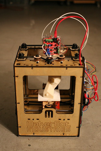 A Makerbot 3D printer. From Bre Pettis on Flickr.