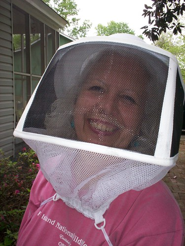 pretty lady in a bee bonnet