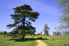 towards the Gothic Temple, Stowe Gardens (Jay Tilston) Tags: park tree home gardens garden formal stately twop landscaped