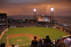 San Diego Padres vs San Francisco Giants (exxonvaldez) Tags: rainbow baseball mlb sfist sanfranciscogiants attpark