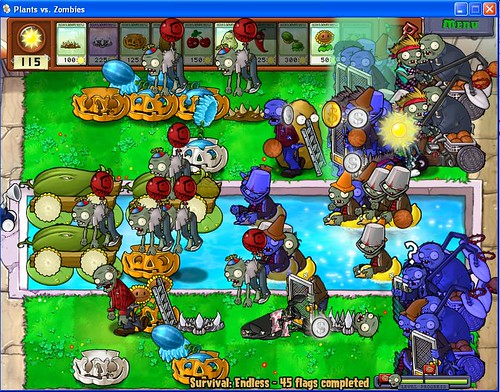 plants vs zombies. Plants Vs Zombies, 45 flags