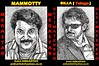 Mallu Star MAMMOOTTY And PRABHAS   the ULTIMATE STARS of MALAYALAM And TELUGU CINEMA  Portrait Sketch