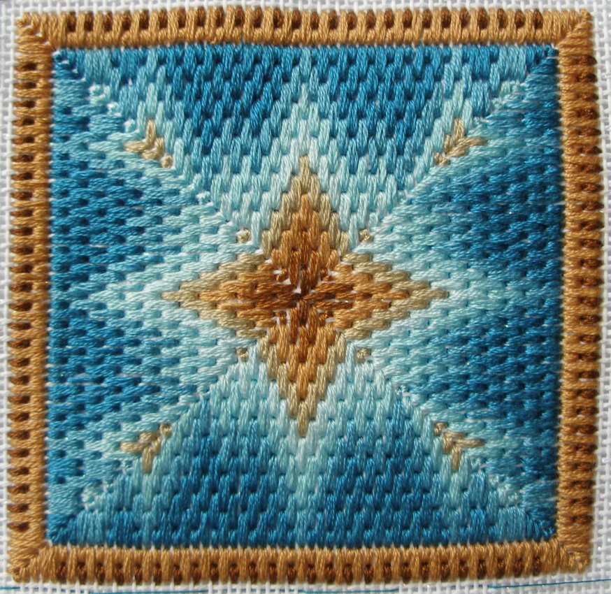 First bargello square