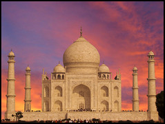 Monument Of Love - Taj Mahal.. Photoshopped ...EXPLORED # 6 on Aug 26 (Anmol Bhalla) Tags: travel india love monument beautiful evening warm tajmahal agra historic romantic lovestory wma mughal
