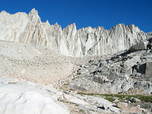 The Needles and Mt. Whitney above Trail Camp