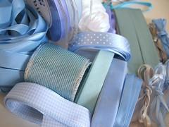 (emma lamb : living in colour) Tags: blue white turquoise gingham lilac paleblue polkadot seamist grosgrainribbon emmalamb