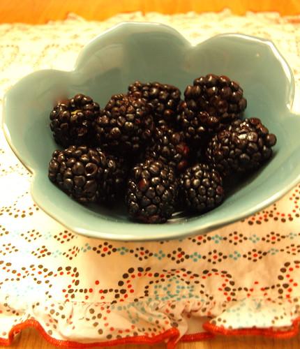 perfect summer blackberries