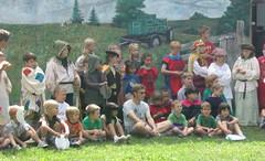 Pep talk (lincoln-log) Tags: camp play hill knight prairie drama robber