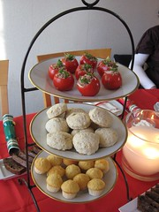 Christmas tea party (Daisy Bliss) Tags: christmas party cake fruit high tea cupcake scone scones muffin tuna tomatoe teaparty hightea