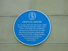 Photo of Peter Leopold Louis Francis Nassau Clavering-Cowper, Hutchinson Gresham, and Joseph Lumley blue plaque