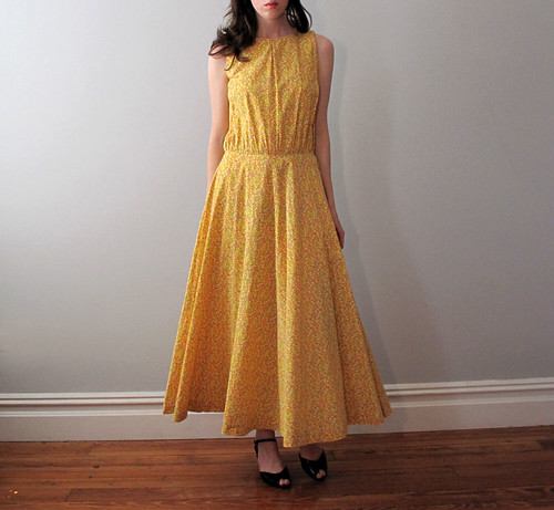 vtg yellow dress