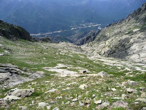 Le plateau de Piscia depuis le haut