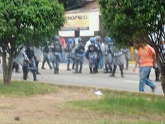 represión en la UNAH 5 de Agosto por Protesta