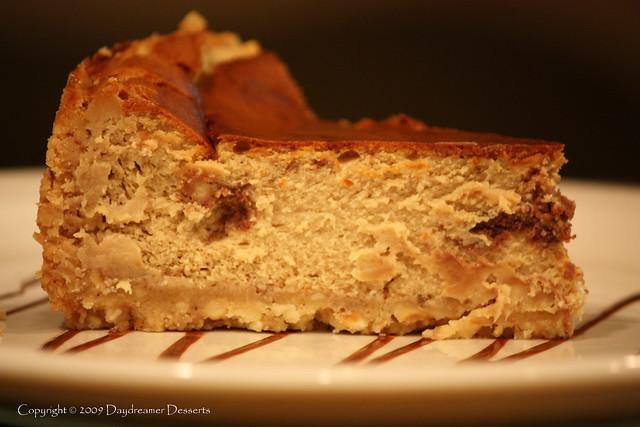 Espresso Hazelnut Swirl Cheesecake