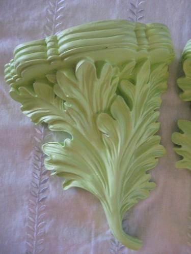 lime green funky shelf