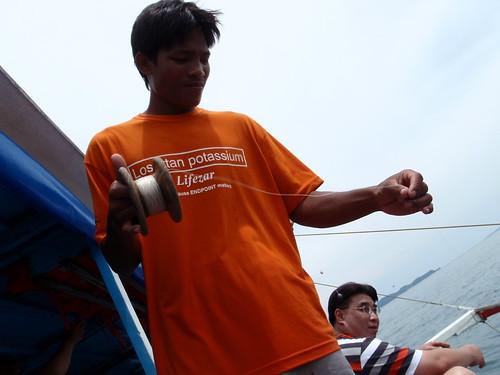 你拍攝的 【μ8000】出海釣魚去。