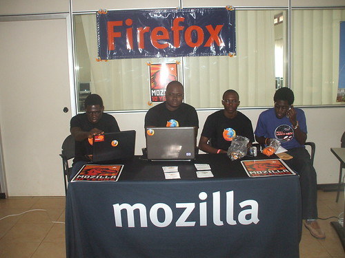 Maker Faire Africa 2009: Mozilla team