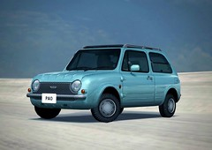 Gran Turismo 4: Nissan Pao '89 (Kelvin64) Tags: sky snow game cars ice car golf pc nissan sony 4 beetle racing joystick ps1 gran pao ps2 joypad console turismo playstation gt4 89 nrburgring