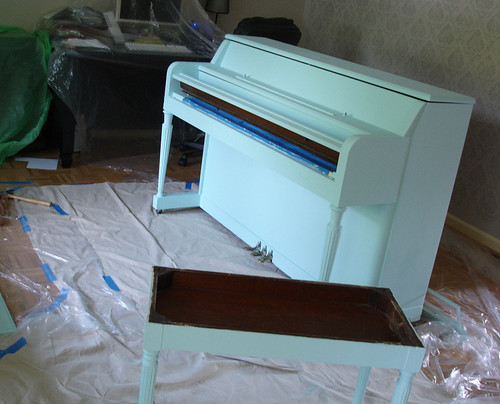 Painting the Piano: Blued!