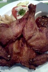 Roast chicken with samba sauce