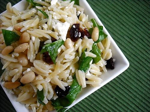 tri-colore orzo pasta salad